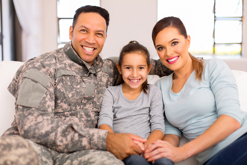 A veteran and family